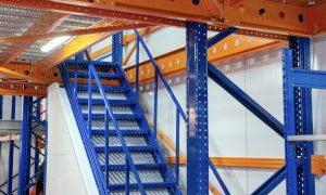 steel fabrication, warehouse mezzanine