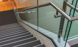 glass balustrade melbourne, steel stairs