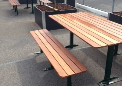 outdoor steel bench fabrication
