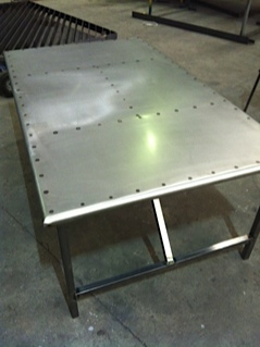 outdoor steel table fabrication melbourne