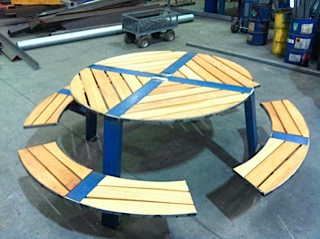 outdoor table steel fabrication