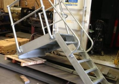 steel access stair fabrication