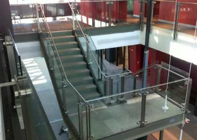 steel and glass balustrades
