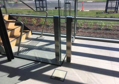 steel and glass panels