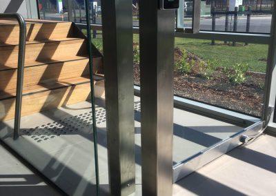 steel and glass security door