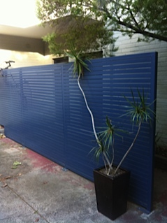 steel garden screen fabrication